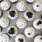 Black and White Cupcakes